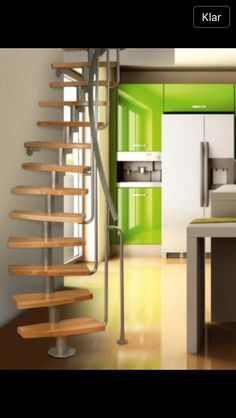 Ruimtebesparende trap Atrium mini plus Spiral Stairs Design, Small Staircase, Loft Staircase, Floating Staircase, Staircases, Tiny House Cabin, Tiny House Plans, Building Stairs, Atrium
