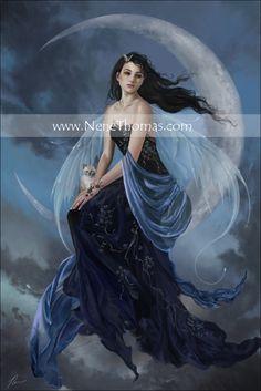 Nene Thomas Moon Indigo Fairy Photoshop Digital Original Art ...