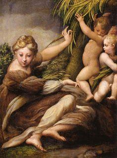 Η Παρθένος με ένα παιδί και ένα άγγελο (1523)