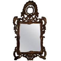 Italian Rococo Mirror from Joan Fontaine Estate