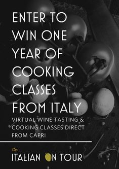 Enter to win a year worth of virtual cooking classes direct from Capri Italy Plus fun wine tasting lessons from a local Italian food and wine experts who has been featured in Forbes Italian Desserts, Italian Recipes, Wine Recipes, Dessert Recipes, Venice Shopping, Italy Magazine, Wine Guide, Italy Travel Tips, Capri Italy