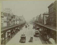 The elevated lines above the Bowery, 1895