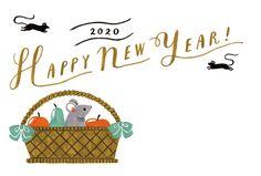EC0092020子カジュアル年賀状・009 | 年賀状2020(令和2年・子年・ねずみ) 素材 | 年賀状・無料ダウンロード | 年賀状ならブラザー Casual