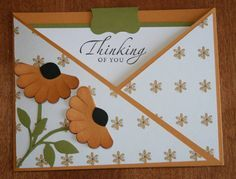 Criss-Cross Cone Flowers by cats2 - Cards and Paper Crafts at Splitcoaststampers