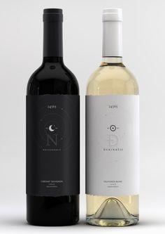 Red & white wine label and box concept