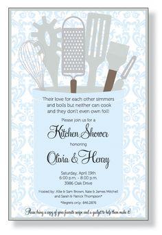 Katelyn's kitchen shower invite idea