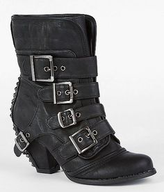09b6a422a6c6 Not Rated Just Bitten Short Boot  stud  buckle  boots Comfortable Boots