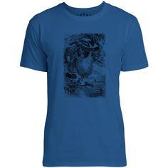 Mintage Weaver Birds Mens Fine Jersey T-Shirt (Royal)