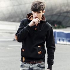 / Homens Hoodies Estilo Prepual Caual Hoodies Homens Fleece Moda Hip Hop Quente Com Capuz Polo Mens Com Capuz Jaqueta Moletom Mens Suor Homme Hoodie Sweatshirts, Sweat Shirt, Hip Hop Fashion, Mens Fashion, Style Fashion, Fashion Suits, Fashion Spring, Fashion 2017, Fashion Brand