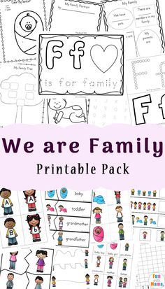 These family worksheets for kindergarten includes a fun all about me themed printable family tree worksheet too. This activity would go well with a family theme preschool all about me week. Kindergarten Units, Free Kindergarten Worksheets, Preschool Printables, Preschool Activities, Family Activities, Preschool Plans, Preschool Names, Kids Worksheets, Children Activities