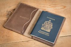 Passport cover leather passport wallet case by PopovLeather Leather Passport Wallet, Leather Wallet, Sewing Leather, Leather Craft, Gifts For Boss, Passport Cover, Leather Projects, Custom Leather, Leather Cover