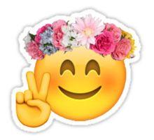 Flower Crown Emoji Sticker