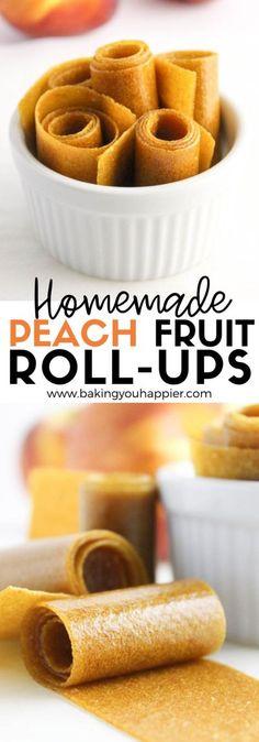 Homemade Peach Fruit Roll-Ups Healthy Sweet Snacks, Easy Healthy Recipes, Snack Recipes, Real Food Recipes, Dessert Recipes, Sweet Treats, Vegan Recipes Beginner, Vegan Snacks, Fruit Recipes