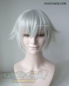 [Kasou Wig] Black Butler Kuroshitsuji snake / Touken Ranbu Nakigitsune short silver flipped out cosplay wig