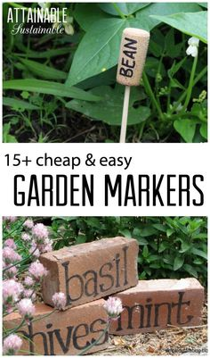 15+ Cheap & Easy Garden Markers for your vegetable garden or homestead. Recycle for zero waste!