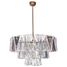 1940's Cut Crystal 3-Tier Chandelier | From a unique collection of antique and modern chandeliers and pendants  at http://www.1stdibs.com/furniture/lighting/chandeliers-pendant-lights/