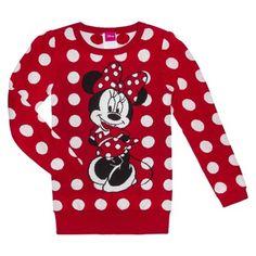Girls Minnie Polka Dot Sweater - Found at Target #MinnieStyle