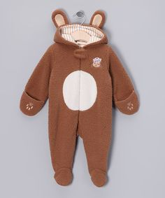 Take a look at this Brown Skipit Faux Fur Bye Bye Footie by Bunnies by the Bay on #zulily today!