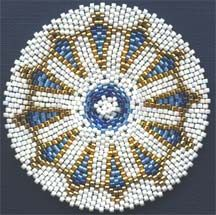 Instant download pattern! ARROWHEADS MANDALA FOR REALLY, REALLY ROUND PEYOTE  #beadwork