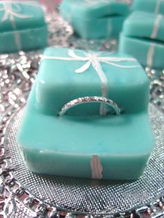Tiffany's Boxes Valentine's Day Grape Vodka Jello Shots