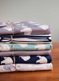 Organic Baby Blanket BEAR HIKE BLUES by organicquiltcompany