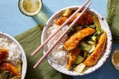General+Tso's+Chicken+with+Bok+Choy+&+Jasmine+Rice.+Visit+https://www.blueapron.com/+to+receive+the+ingredients.