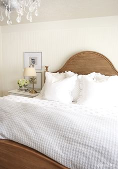 I am excited to share more details on the linens in our master bedroom makeover today! I am such a sucker for beautiful linens and deciding which ones would create the perfect and comfy atmosphere I was aiming for was a lot of fun. I collected them over several years. All of the white quilts and...Read More »