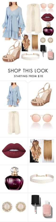 """Cinderella"" by jokerkat on Polyvore featuring BCBGMAXAZRIA, Seychelles, Jakke, Lime Crime, Humble Chic, Kate Spade and Chanel"