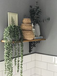 House Plants Decor, Plant Decor, Bedroom Plants Decor, Boho Bathroom, Bathroom Ideas, Natural Bathroom, Shiplap Bathroom, White Bathroom, Bathroom Inspiration