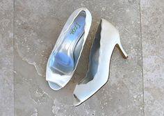 Izoa Bride Ivory Peeptoe: Vendor: Izoa Type: Shoes Price: 199.00 silk upper leather lined handcrafted three layers of cushioning Izoa bride…