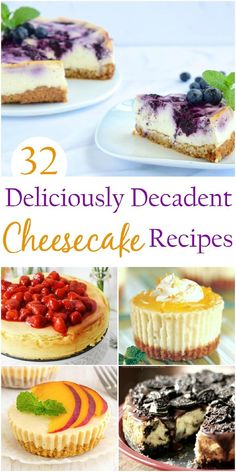 Decadent cheesecake recipes are worth saving and sharing. From the scrumptious graham crust to the toppings that elevate these flavours, these 32 deliciously decadent cheesecake recipes will blow your mind. Easy Desserts, Delicious Desserts, Dessert Recipes, Yummy Food, Sweet Desserts, Pie Recipes, Dessert Ideas, Baking Recipes, Healthy Cheesecake Recipes