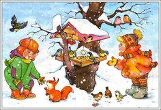 Madarak télen.) Illusztráció. Vita LiveInternet - orosz Service Online Diaries Christmas Art, Winter Christmas, Cartoon Pics, Winter Scenes, Winter Holidays, Preschool Activities, Cute Art, Storytelling, Diy And Crafts