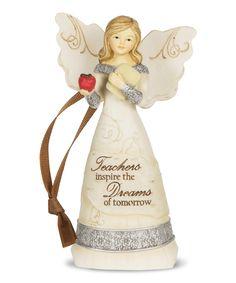 'Teachers Inspire the Dream of Tomorrow' Angel Ornament