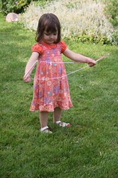 homemade giant bubble wand
