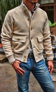 Beautiful and warm looking jacket. Enough detailing without being too much.
