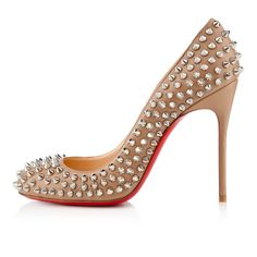 Chrsitian Louboutin fifi spikes 100mm corde silver leather... oh the things I would do for these!!!