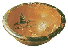 Red earthenware bowl from Pan-p'o, Shensi. Yang-shao Culture. Diam:44.5cm. 5-4th mill.BC.