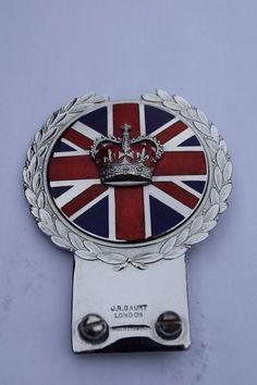 Rare Queen Elizabeth II's coronation badge by J.R. Gaunt of England