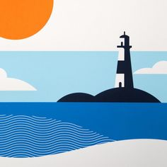 Fashion Illustration Close up of the lighthouse illustrations from The Lost Fox - A selection of limited edition screen prints from The Lost Fox. The Lost Fox is a collaboration between illustrator Dan Forster and printmaker Jan Hirst. Art And Illustration, Illustrations And Posters, Graphic Design Illustration, Animal Illustrations, Graphic Art Prints, Graphic Posters, Movie Posters, Minimal Art, Posca Art