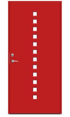 Rød ytterdør Pixel fra Swedoor Lockers, Locker Storage, Design, Home Decor, Modern, Decoration Home, Room Decor, Locker, Closets