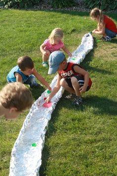 Aluminum Foil River -- Hilary's Home Daycare & Preschool