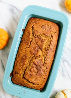 Healthy, naturally sweetened pumpkin bread made with coconut oil and whole wheat flour! It's my favorite. cookieandkate.com