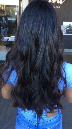 #softbalayage #balayage #balayagehair #hairstyles #hairsalonziva #hair Brunette Hair Color With Highlights, Highlights For Dark Brown Hair, Long Brunette Hair, Hair Color For Black Hair, Hair Highlights, Medium Black Hair, Soft Balayage, Hair Gloss, Long Dark Hair