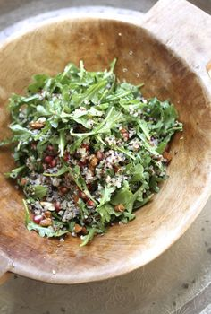 Quinoa Salad with Pomegranates, Almonds, and Arugula