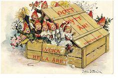 Annons på Tradera: JENNY NYSTRÖM-  GOTT NYTT ÅR !-  1910-talet