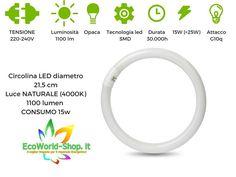 Circolina a Led 15W 21,5cm luce lampadario T9 G10q  luce naturale