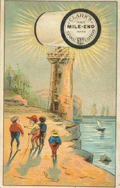 thread Advertising Trade card lighthouse