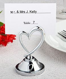 FashionCraft Heart themed place card holders #heart #wedding