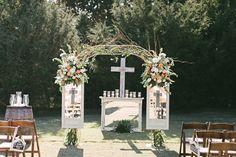 Rustic, Romantic Altar