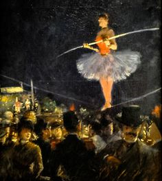 Jean Louis Forain - Tightrope Walker, 1883 at Art Institute of Chicago IL by mbell1975, via Flickr